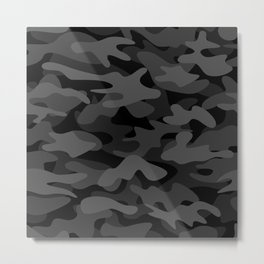 NEW AGE BLACK CAMOUFLAGE IN 4 SHADES OF GRAY  Metal Print