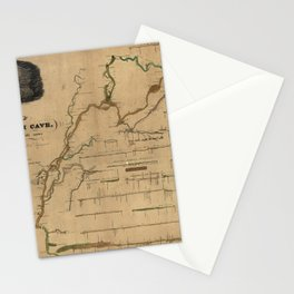 Map Of Mammoth Cave 1835 Stationery Cards