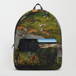 "Lucas Cranach the Elder ""Hunting near Hartenfels Castle"" Backpack"