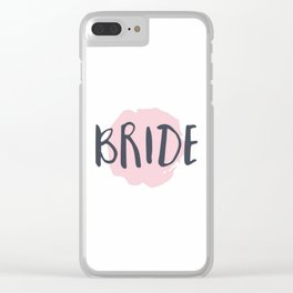 Pink Bride Clear iPhone Case