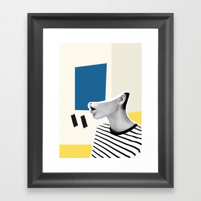 minimal collage Gerahmter Kunstdruck