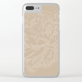 layer upon layer beige Clear iPhone Case