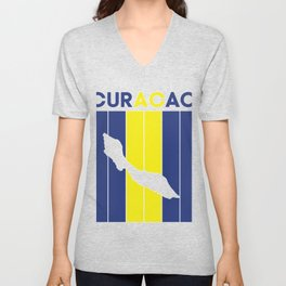curacao Country and Flag Unisex V-Neck