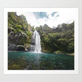 Chasing waterfalls Art Print