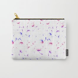 Dandelion Seeds Bisexual Pride (white background) Carry-All Pouch