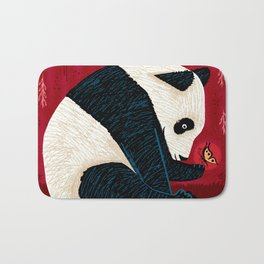 The Panda and the Butterfly Bath Mat