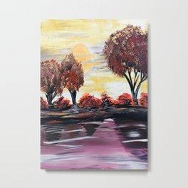 Autumn Sundown Metal Print