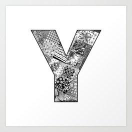 Cutout Letter Y Art Print