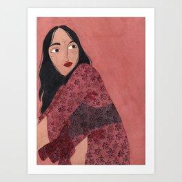 Transparent Kimono Art Print