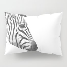 Black and White Zebra Profile Pillow Sham