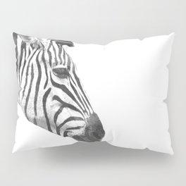 Black and White Zebra Profile Pillow Sham