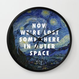 Vincent van Gogh, The Starry Night (1889) / Halsey, Coming Down (2015) Wall Clock