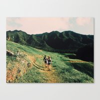 the mountains are calling Canvas Prints featuring Calling Mountains by Caleb Gaskins