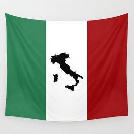 Italian Flag & Boot Wall Tapestry