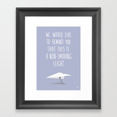 Warning Framed Art Print