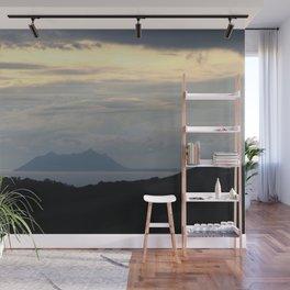 Mount Circeo at Nightfall Panorama Seascape Wall Mural