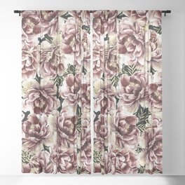 Vintage Flowers At Night #society6 Sheer Curtain