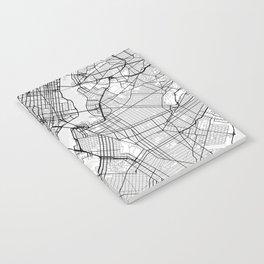 Scandinavian map of New York City in grayscale Notebook