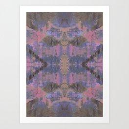 Abstract mosaic panel Art Print