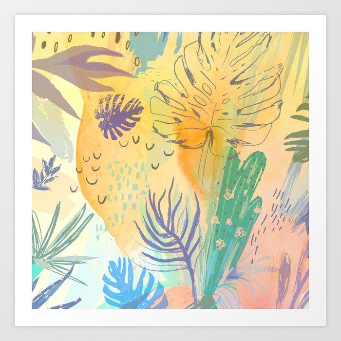 Desert Sun Pattern Art Print