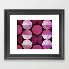 fashionable red pink grunge circle pattern Framed Art Print