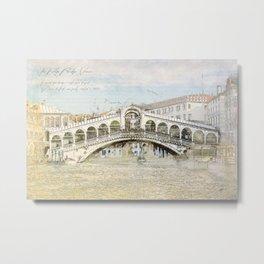 Rialto Bridge, Venice Italy Metal Print
