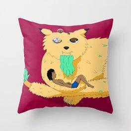 Geezer Cat Throw Pillow