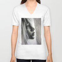 firefly V-neck T-shirts featuring Firefly by Olga Noes