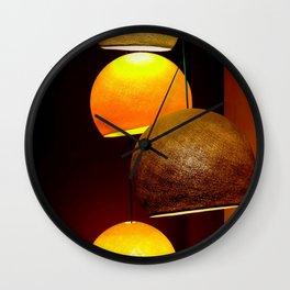 Colorful, playful lights Wall Clock