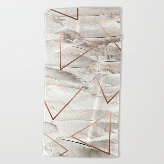 Feathers & Copper #society6 #decor #buyart Beach Towel