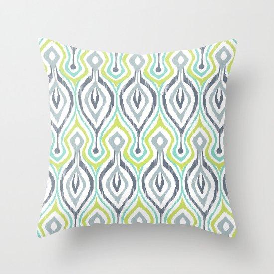 Sketchy IKAT Throw Pillow