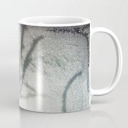 Shadow on a frosty window Coffee Mug