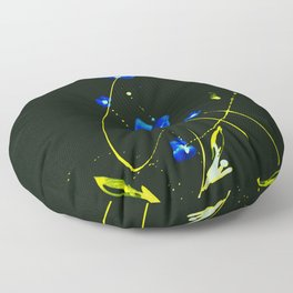Roseate Jewels No.12zb by Kathy Morton Stanion Floor Pillow