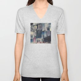 Drenched in Rain-Wrapped Shadows Unisex V-Neck