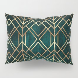 Dark Teal Geo Pillow Sham