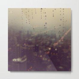 Urban Rainstorm Metal Print