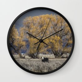 Guarding the Trees Wall Clock