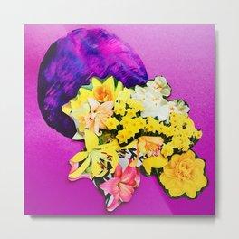 Garden Circle - Violet Metal Print