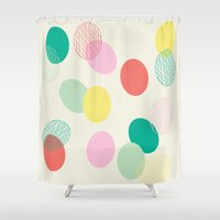 eggs Shower Curtains featuring Easter Eggs by K&C Design