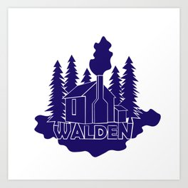 Walden - Henry David Thoreau (Blue version) Art Print