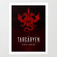 targaryen Art Prints featuring House Targaryen Sigil III (house seat) by P3RF3KT