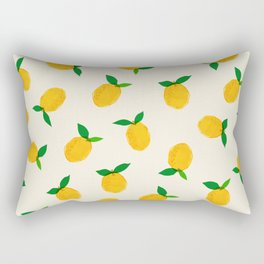 Lemon_Yellow_Pattern_01 Rectangular Pillow