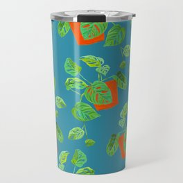 Monstera Obliqua Travel Mug