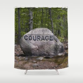 Courage Rock Babson Boulder #6 Shower Curtain