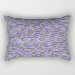 Sunshine and Shadow Pattern (Ultra Violet) Rectangular Pillow