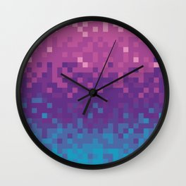 Pixel color Wall Clock