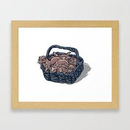 Basket of Ferrets Framed Art Print