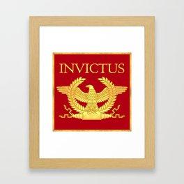 Invictus Eagle on Red Framed Art Print