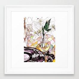 Broken Records Framed Art Print