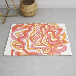 orbs: 1960's psychedelic festival Rug